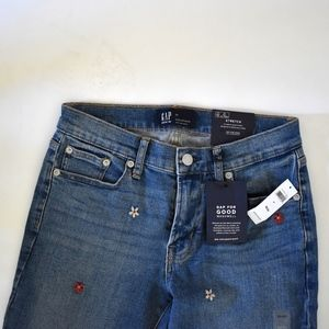 GAP embroidered girlfriend jeans